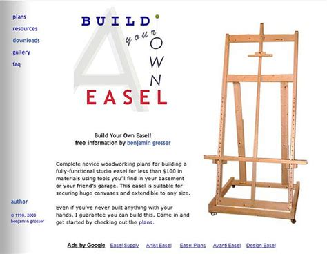 build your own blueprints build your own easel