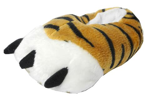 mens animal slippers mens novelty fur animal tiger slippers