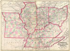 us map kentucky tennessee file 1873 asher map of the midwest ohio indiana