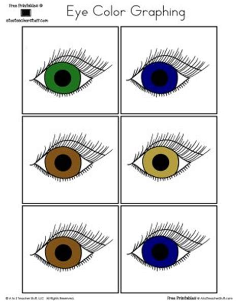 printable color graphs printables eye color graphing teaching all about me