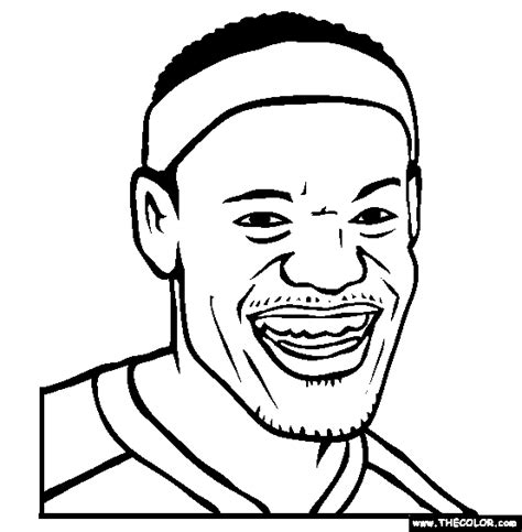 lebron james coloring pages famous people online coloring pages page 1
