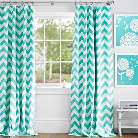 aqua bedroom curtains turquoise chevron blackout drape everything turquoise