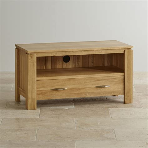 small tv cabinet with galway natural solid oak tv dvd stand living room