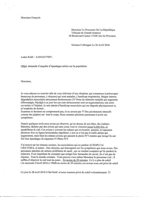Lettre Demande De Documents Officiels Lettre Au Procureur De La R 233 Publique Acseipica