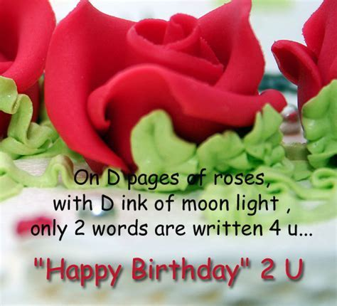 Wish Written On The Pages Of Roses  Free Birthday Wishes