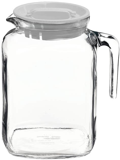 glass pitcher with lid bormioli frigoverre glass pitcher with lid 68 ounce bormioli ebay