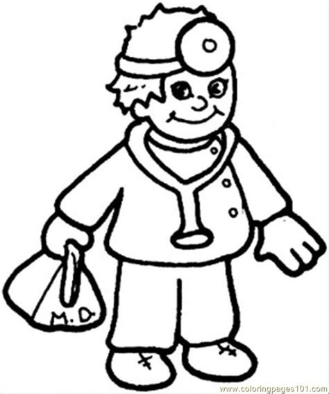 doctor coloring page coloring home