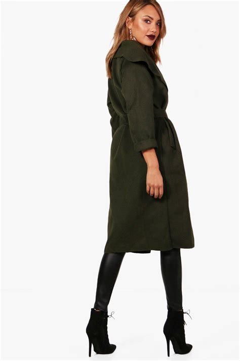 Shawl Collar Coat kate belted shawl collar coat
