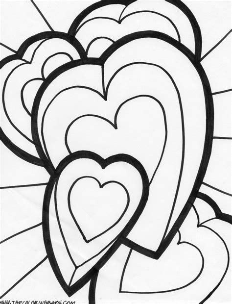 coloring pages of big hearts 6 best images of big hearts valentine printable coloring