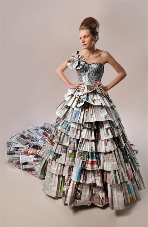 Style Report Fashions by 317 Best Recycled Dress Images On Paper