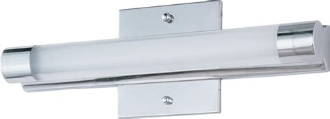 single bathroom light fixtures et2 e22391 10pc polished chrome wand led 14 wide single
