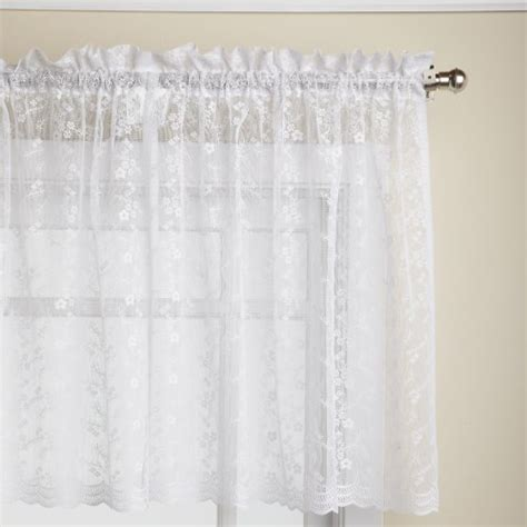 white tier curtains tier curtains lorraine home fashions priscilla 60 inch x
