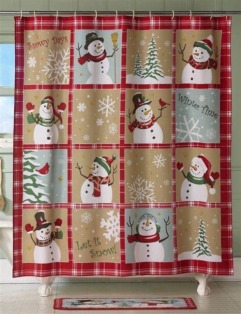 snowman curtains 20 christmas shower curtains christmas spirit to make
