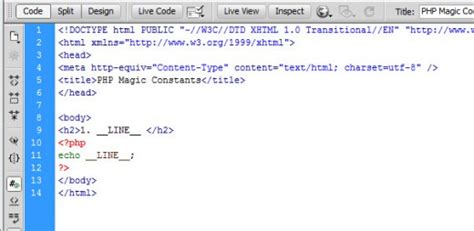 php magic constants usage and debugging with exles