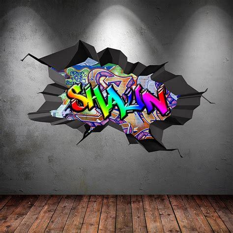 Graffiti Aufkleber Selber Machen by Personalisiertes Graffiti Wandtattoo Perfekt F 252 R Das