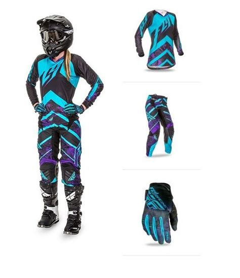 motocross combo gear 2016 fly racing purple kinetic mx 2 3 pc combo