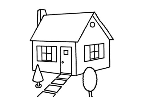 draw your home simple drawing of a house clipart best