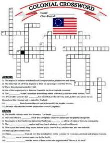 historical maps america crossword puzzle answers u s history 13 colonies colonial crossword worksheet