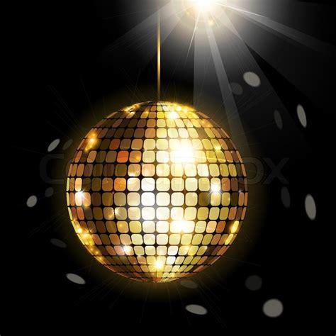 Disco Black shining disco stock vector colourbox