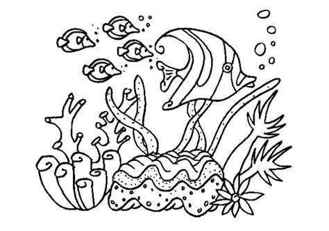 coloring pictures of fish in the ocean a group of fish in coral reef sea coloring pages kids play