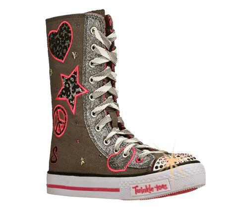skechers knee high sneakers buy skechers twinkle toes shuffles megastar shoes only
