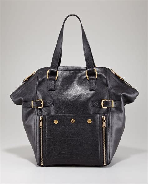 Richardss Yves Laurent Downtown Tote by Laurent Downtown Tote In Black Lyst