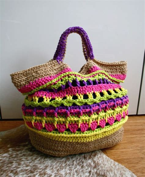 crochet pattern market tote market bag tote from luz patterns bright colors and a