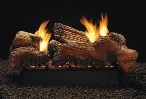 ceramic gas fireplace logs empire 18 quot multi sided river ceramic fiber ventless