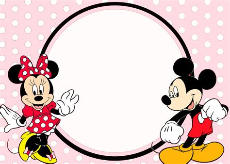 minnie and mickey invitation template free printable