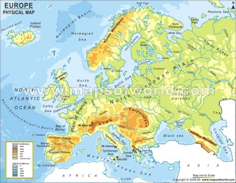 map of europe physical europe map map pictures