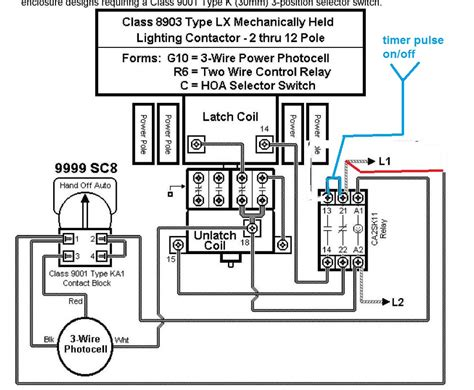 wiring diagram for mechanically held lighting contactor auto contactor wiring diagram get free image