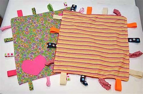 Handmade Taggies - diy make your own quot taggies quot blanket