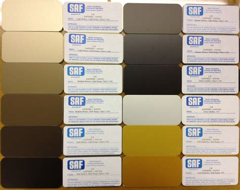 anodizing color choices saf southern aluminum finishing co inc
