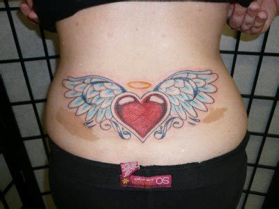 lower back wing tattoo designs pictures of wings tattoos on small of back foot