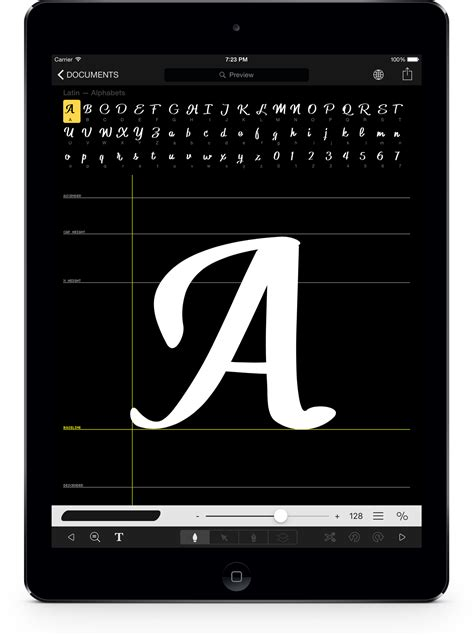 font design app ipad draw your own typeface in minutes and use it in your