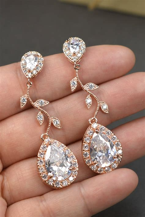 Ohrringe Gold Hochzeit by Gold Bridal Earrings Wedding Jewelry Set Wedding