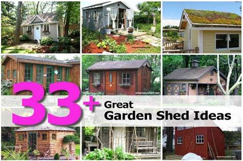Great Shed Ideas 33 great garden shed ideas