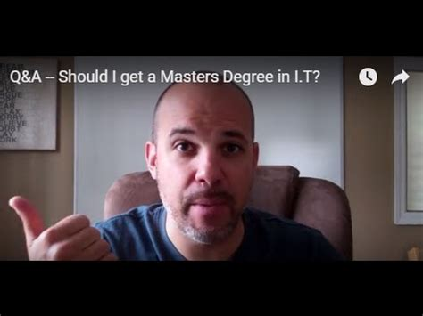 Should I Get An Mba Or Masters In Finance by Q A Should I Get A Masters Degree In I T