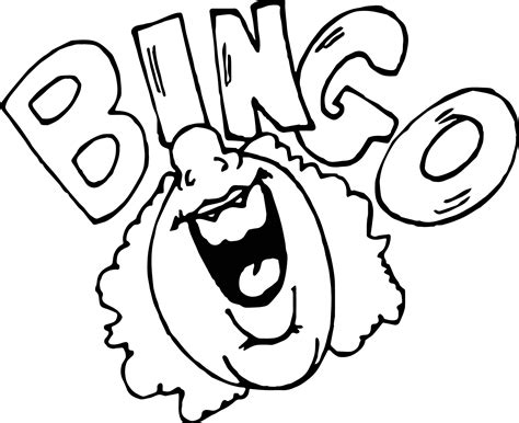 bingo activity coloring page wecoloringpage