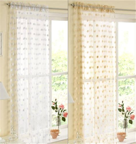 organza voile curtains hton organza voile curtain panel gold or white slot