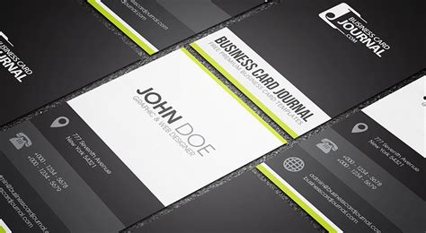 horizontal business card template free clean minimal creative business card template