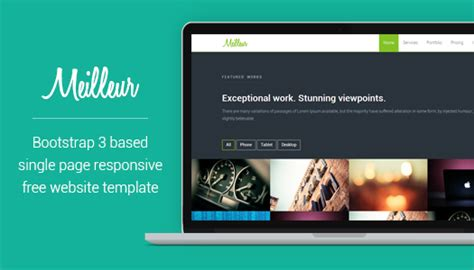 One Page Free Html Css Website Template Bootstrap 3 Meilleur Egrappler Free Css Website Templates