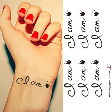 tattoo i am queen one hundred million off color tattoo stickers i am the