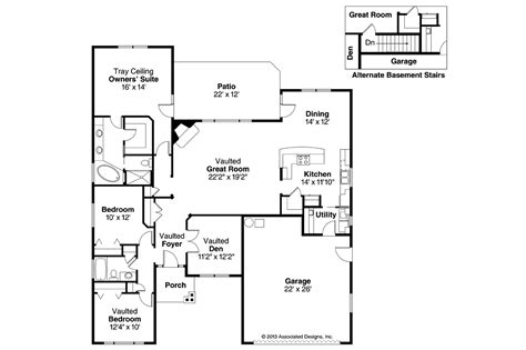 craftsman floor plan craftsman house plans ridgefield 30 696 associated designs