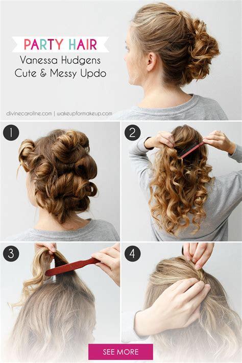 party hairstyles for short hair tutorial bun hairstyle tutorial for parties hairstylesmill