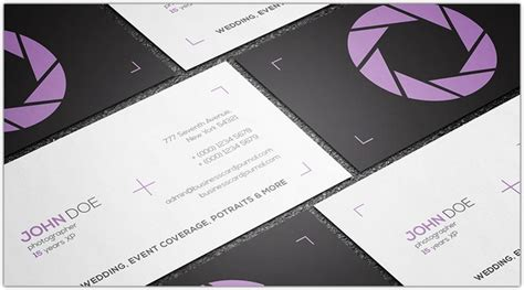 23 awesome photography business card templates web