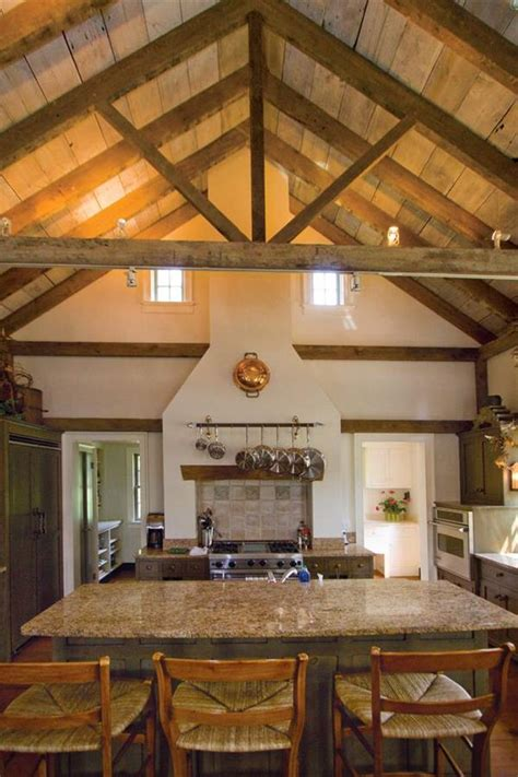 Open Beam Ceilings by Kitchen Vaulted Ceiling With Open Beams Designs Small