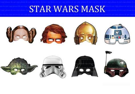 printable star wars masks pin by jaime johnson on tyler s 5th birthday star wars