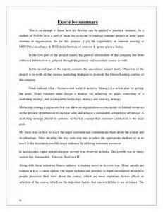 Sample Executive Summary Of A Report Sip Report Executive Summary