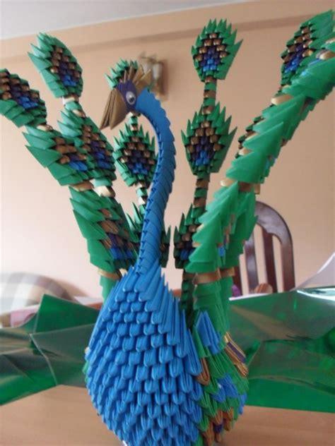Peacock 3d Origami - stick peacock album jimena 3d origami